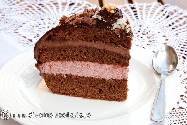 tort-cu-mousse-de-visine-si-ciocolata